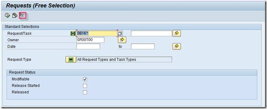 ABAP Cookbook - Finding Transport Request By Description in SE03