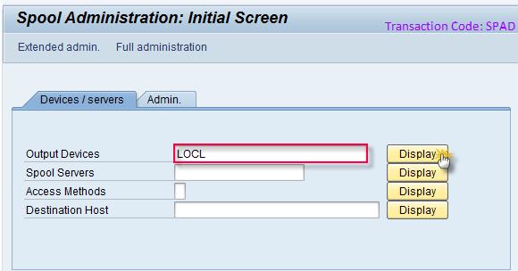 Spool Administration