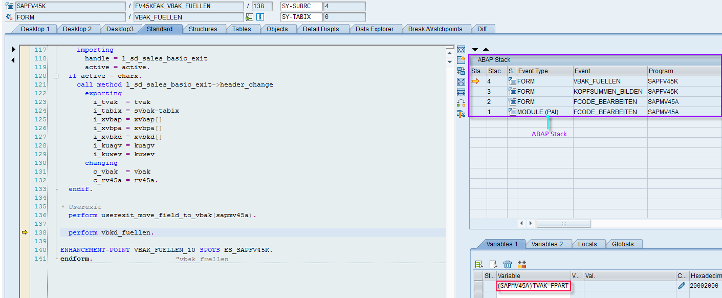 ABAP stack Overview